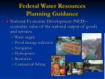 federal water resources planning guidance14