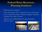 federal water resources planning guidance18