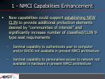 1 nmci capabilities enhancement