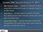 current onr security projects for nmci