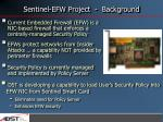 sentinel efw project background