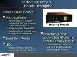 sentinel nmci project module description