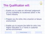 this qualification will