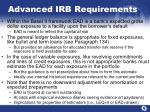 advanced irb requirements