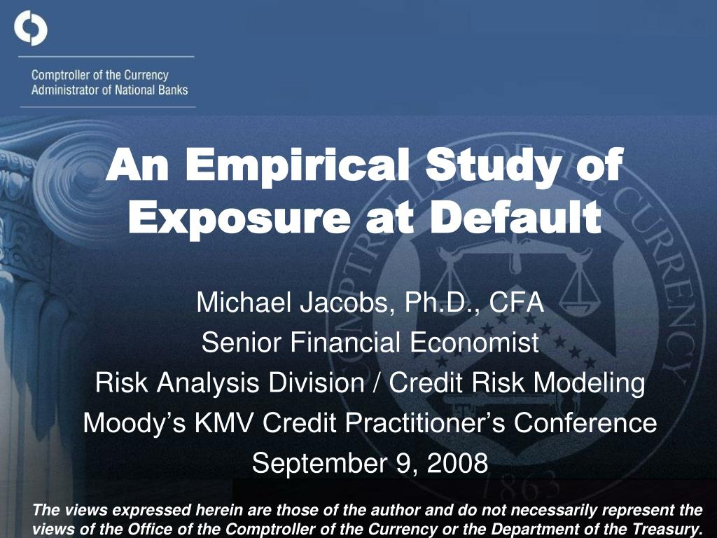 an empirical study of exposure at default l.