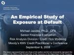 an empirical study of exposure at default