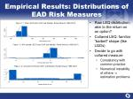 empirical results distributions of ead risk measures