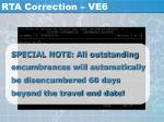 rta correction ve625