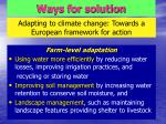 adapting to climate change towards a european framework for action