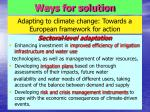 adapting to climate change towards a european framework for action27