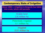 contemporary state of irrigation