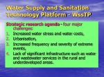 water supply and sanitation technology platform wsstp