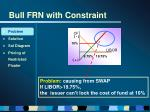 bull frn with constraint