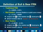 definition of bull bear frn4