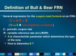definition of bull bear frn5