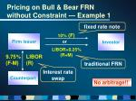 pricing on bull bear frn without constraint example 1