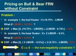 pricing on bull bear frn without constraint12