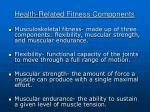 health related fitness components21