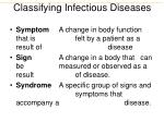 classifying infectious diseases