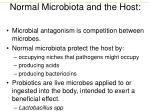 normal microbiota and the host6