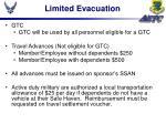 limited evacuation23
