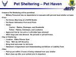 pet sheltering pet haven