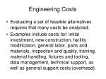 engineering costs