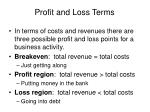 profit and loss terms