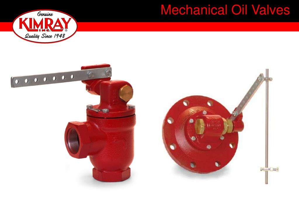 mechanical oil valves l.