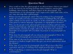question sheet