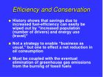 efficiency and conservation