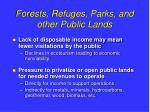 forests refuges parks and other public lands