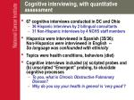 cognitive interviewing with quantitative assessment