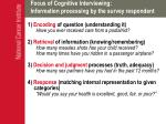 focus of cognitive interviewing information processing by the survey respondent