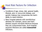host risk factors for infection