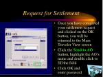 request for settlement41