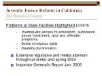 juvenile justice reform in california the historical context8