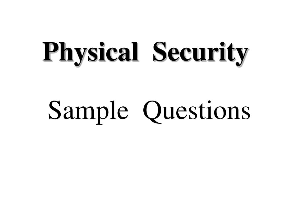 physical security l.