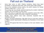 fall out on thailand