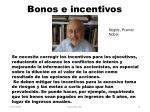 bonos e incentivos