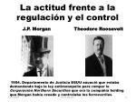 la actitud frente a la regulaci n y el control
