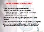 institutional development25