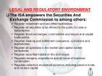 legal and regulatory environment17