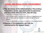 legal and regulatory environment21