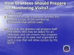 how grantees should prepare for monitoring visits continued
