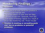 monitoring findings continued57