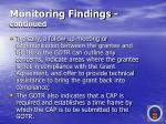 monitoring findings continued59