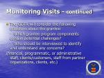 monitoring visits continued39