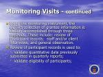 monitoring visits continued43