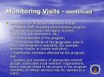 monitoring visits continued45